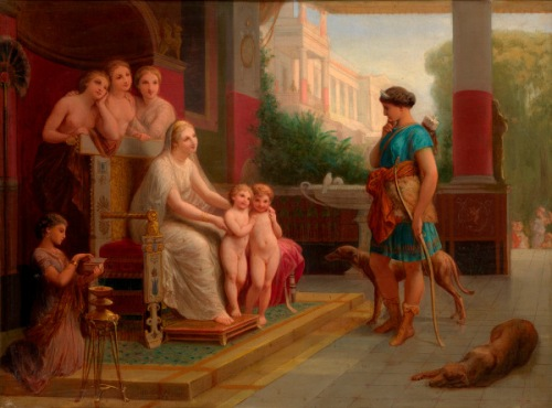 Juno Presenting Romulus And Remo To Diana With The Three Graces Beyond