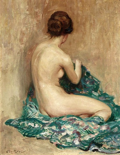Nude - Woman Seated With A Kimono