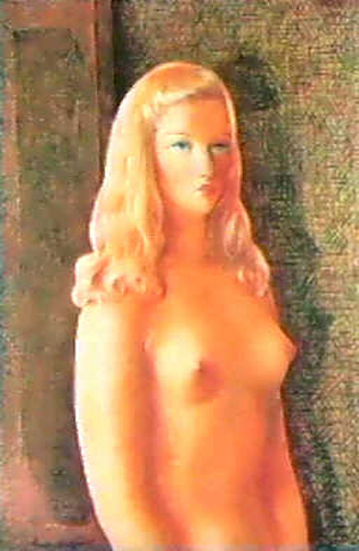Nude Woman With Blonde Hair