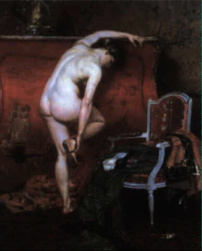 A Female Nude From Behind