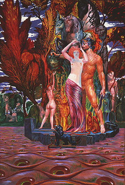 Aphrodite And Perseus On The Isle Of Eyes (Arcadia)