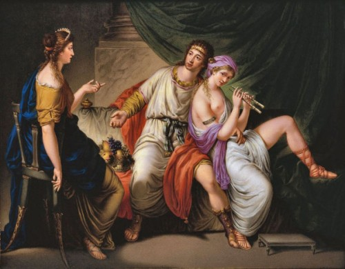 Demetrius Poliorcetes With The Flautist Lamia And Her Friend Demo