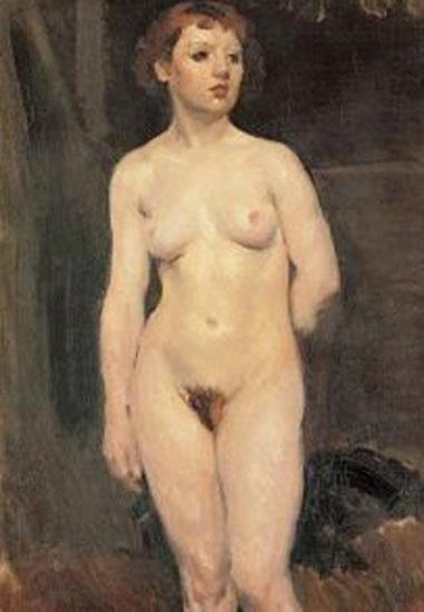 Desnudo de pie
