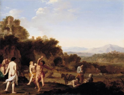 Italianate Landscape With Dancing Figures