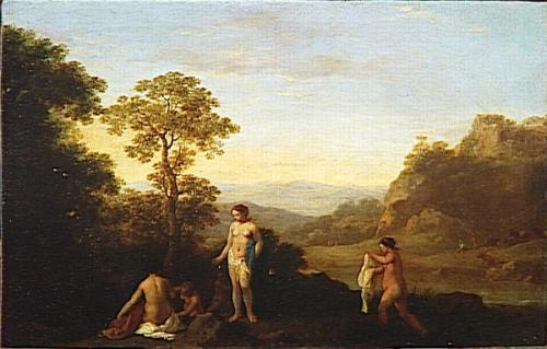 Landscape With Five Bathers