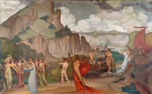 L'arrivée à Cythère