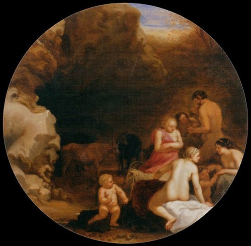 Nymphs And Satyr At The Emtrance Of A Grotto
