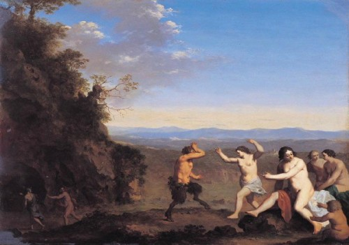 Nymphs And Satyrs In A Landscape
