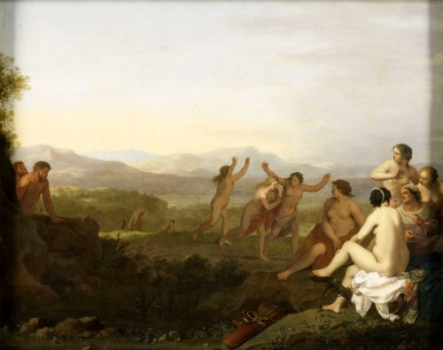 Nymphs Watched By Satyrs