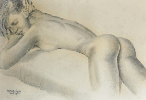 A Naked Female, Reclining On A Bed
