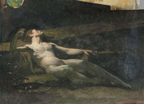 Nu masculin allongé