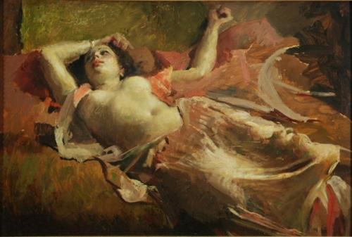 Nudo di donna sdraiata