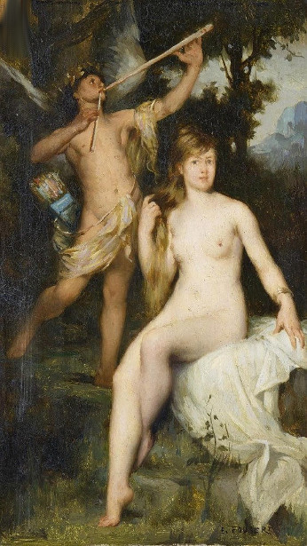 Pan And Nymph In A Landscape