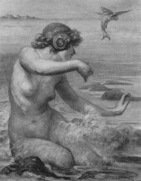 Sirène et poisson volant