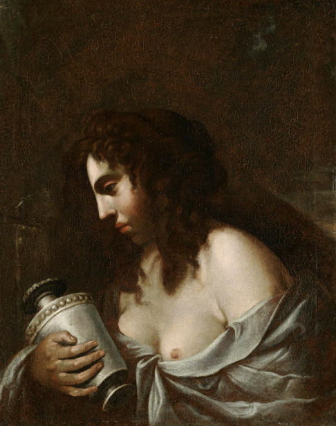 The Penitent Magdalene Holding A Jar Of Ointment