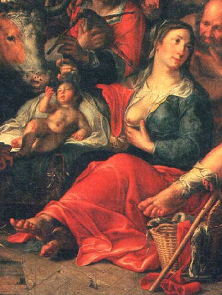 Adoration Of The Shepherds (detail)