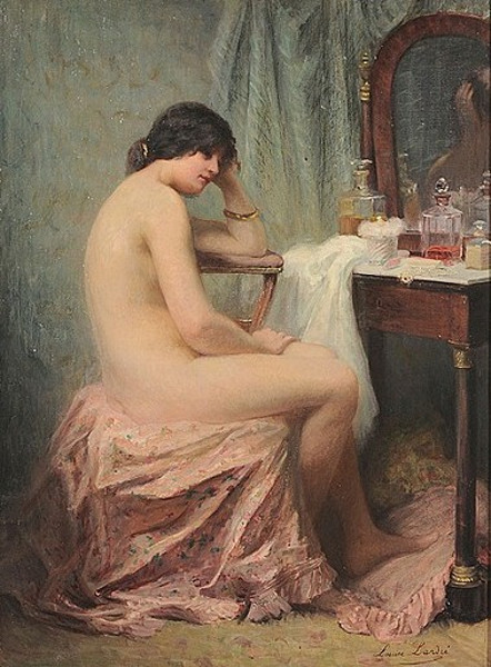 Contemplative Woman At A Dressing Table