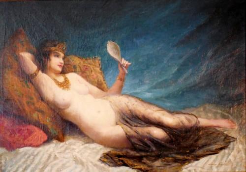 Jeune femme alanguie