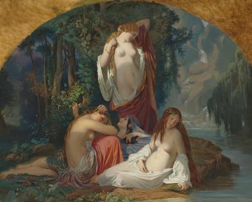 Les baigneuses - Les filles de la source