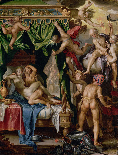 Mars And Venus Surprised By Gods