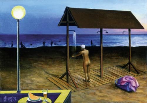 Sulla spiaggia, di sera