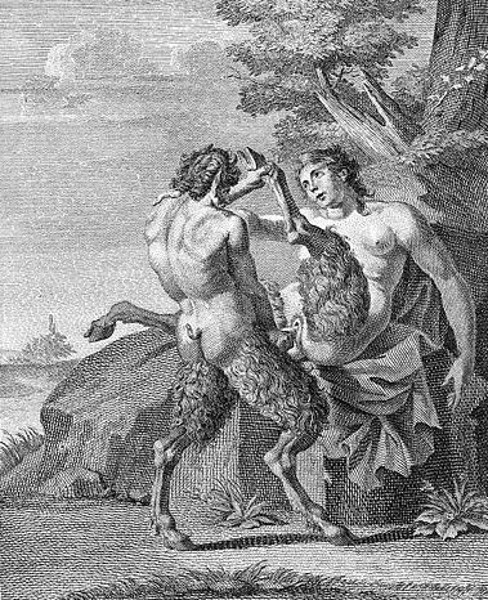 A Satyr And His Wife
