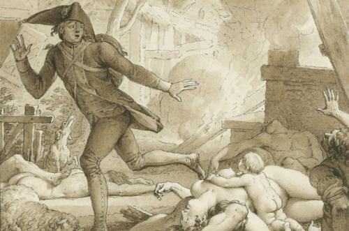 Candide sur le champ de bataille, contre les Bulgares