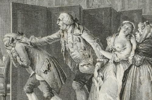 Candide surpris avec Cunégonde